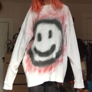 Spray Painted Smiley Thermal